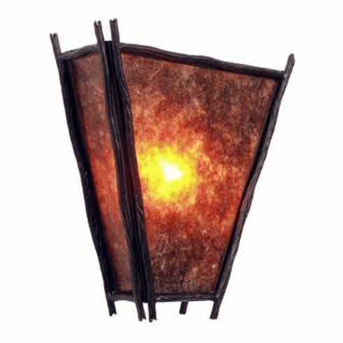 Rustic Lodge Sticks Vegas Sconce