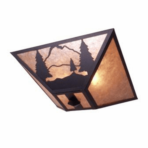 Rustic Lodge Timber Ridge Drop Ceiling Light
