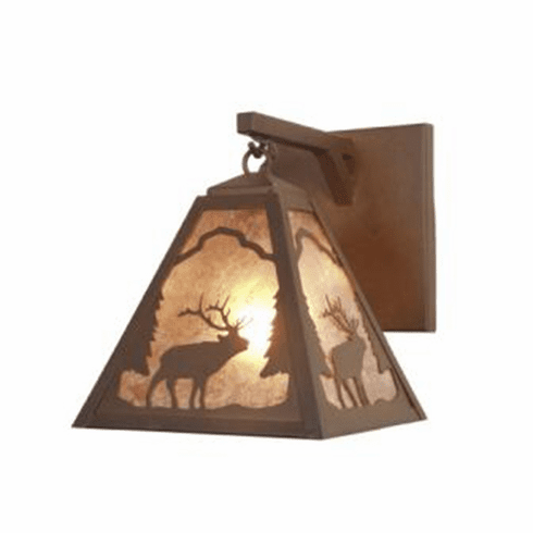 Rustic Lodge Timber Ridge Elk Hanging Sconce