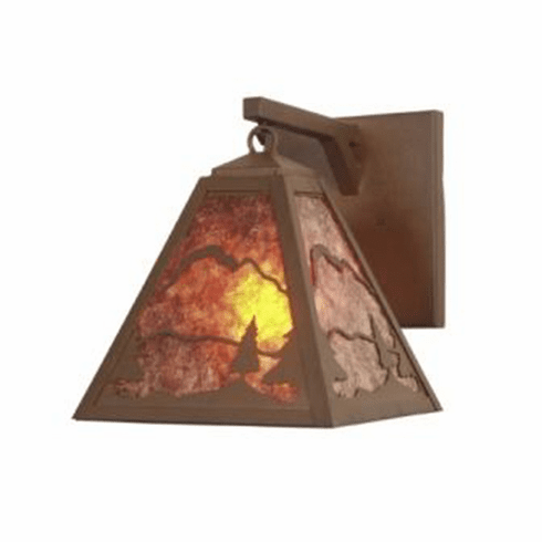 Rustic Lodge Timber Ridge Hanging Sconce