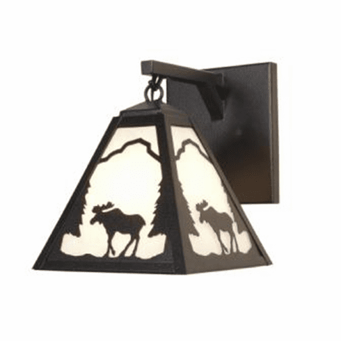 Rustic Lodge Timber Ridge Moose Hanging Sconce