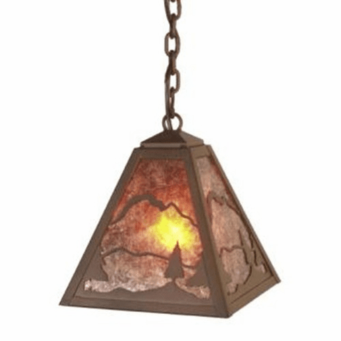 Rustic Lodge Timber Ridge Pendant