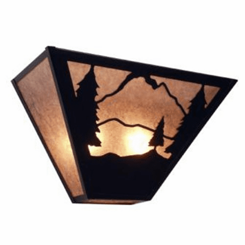 Rustic Lodge Timber Ridge Tapered Wall Sconce