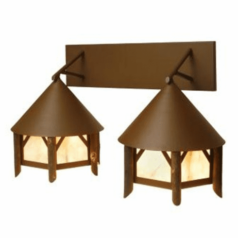 Rustic Lodge Twin Campromise Vanity Light