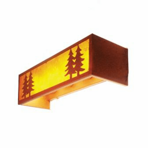 Rustic Lodge Twin Tree 4 Light Vanity Light