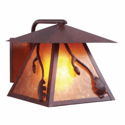 Rustic Lodge Wet Location Acorn Wetlo Wall Sconce