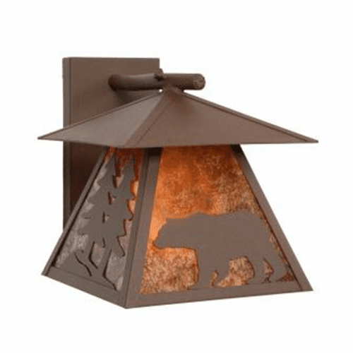 Rustic Lodge Wet Location Bear Cascade Wall Sconce