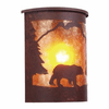 Rustic Lodge Wet Location Bear Willapa Wall Sconce