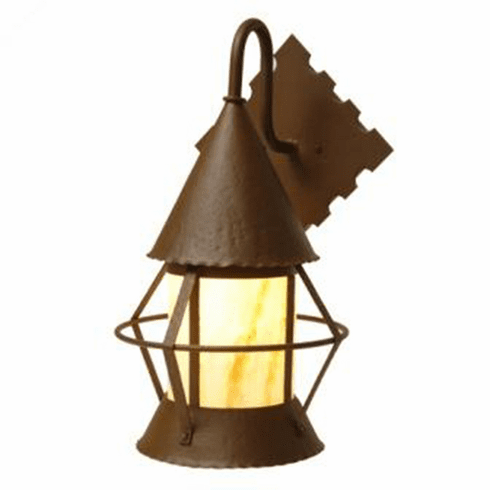Rustic Lodge Wet Location Harbor Tri Roof Wet GIG Wall Sconce
