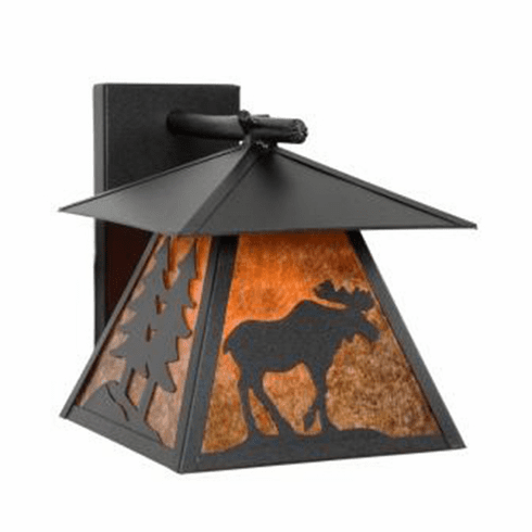 Rustic Lodge Wet Location Moose Cascade Wall Sconce