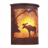 Rustic Lodge Wet Location Moose Willapa Wall Sconce
