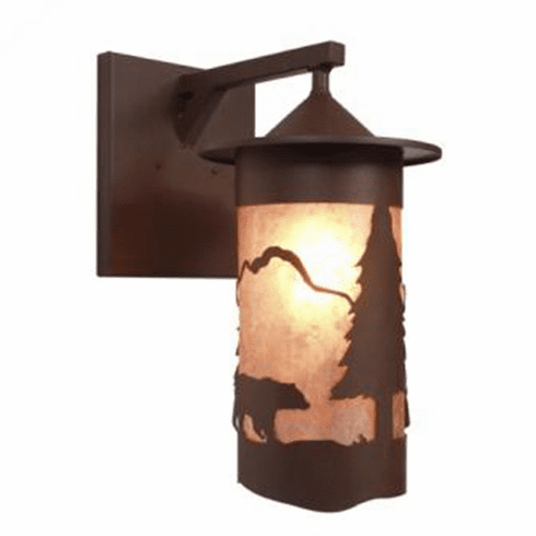 Rustic Lodge Wet Location Pasadena Bear Wet Wall Sconce