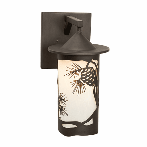 Rustic Lodge Wet Location Pasadena - Pinecone Wet Wall Sconce