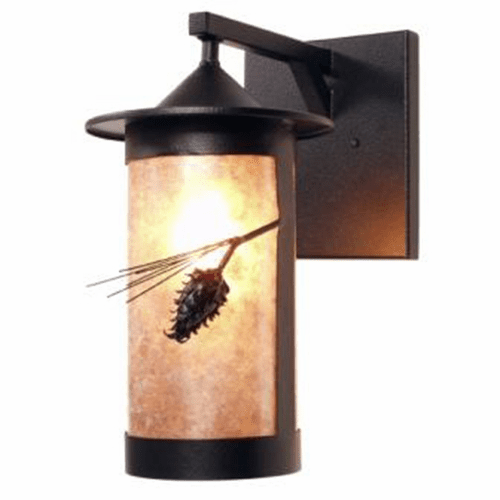 Rustic Lodge Wet Location Pasadena - Ponderosa Pine Wet Wall Sconce