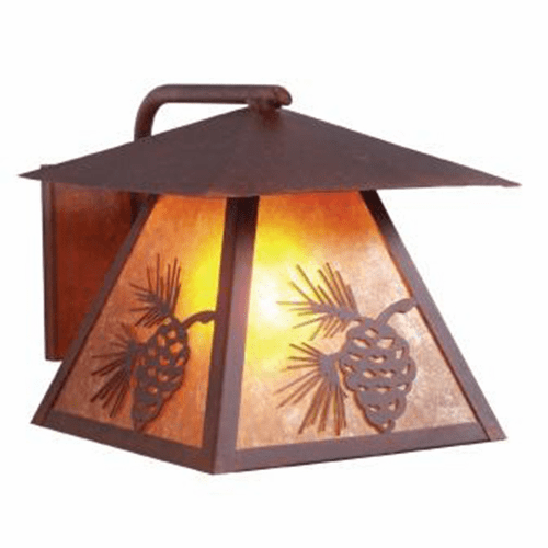 Rustic Lodge Wet Location Pinecone Wetlo Wall Sconce
