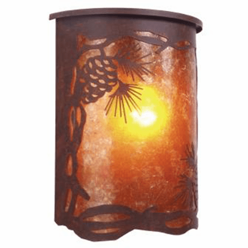 Rustic Lodge Wet Location Pinecone Willapa Wall Sconce