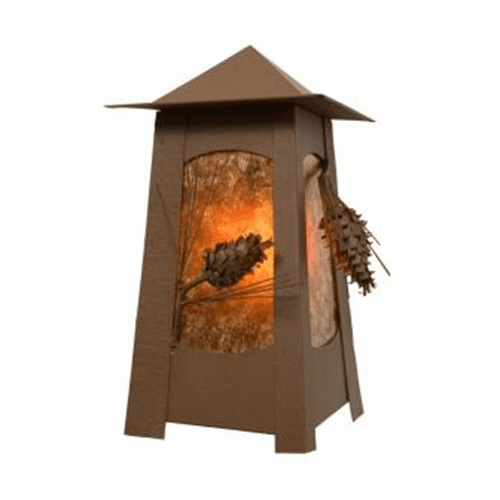 Rustic Lodge Wet Location Ponderosa Pine Mesa Wet Wall Sconce