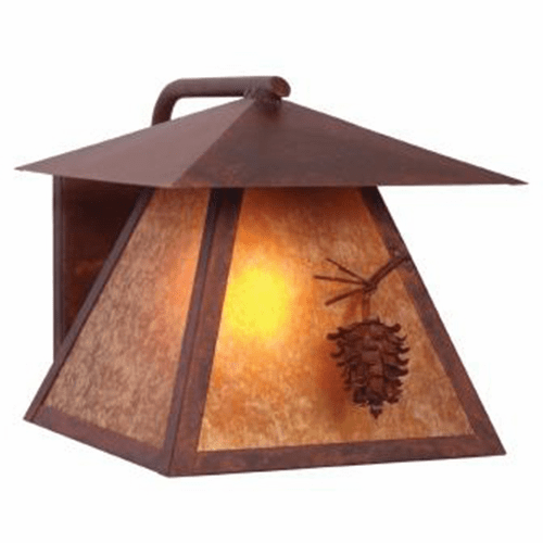 Rustic Lodge Wet Location Ponderosa Pine Wetlo Wall Sconce