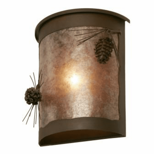 Rustic Lodge Wet Location Ponderosa Pine Willapa Wall Sconce