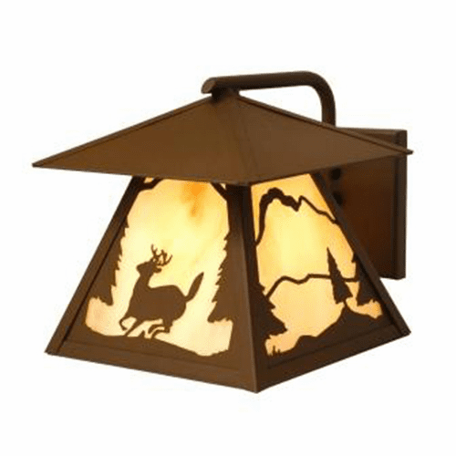 Rustic Lodge Wet Location Timber Ridge Deer Wetlo Wall Sconce