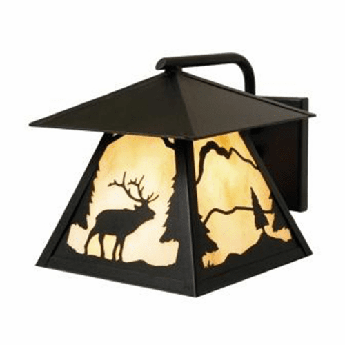 Rustic Lodge Wet Location Timber Ridge Elk Wetlo Wall Sconce