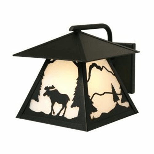 Rustic Lodge Wet Location Timber Ridge Moose Wetlo Wall Sconce