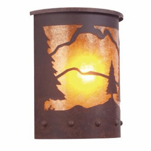 Rustic Lodge Wet Location Timber Ridge Willapa Wall Sconce