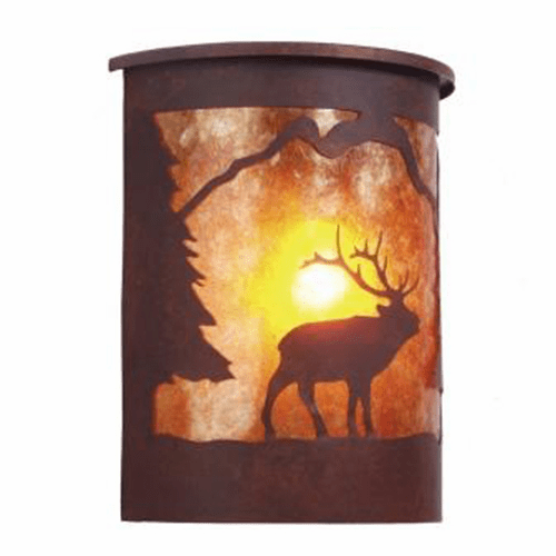 Rustic Lodge Wet Location Wapiti Willapa Wall Sconce