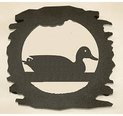 Rustic Metal Trivet - Duck Design