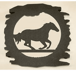 Rustic Metal Trivet - Galloping Horse Design
