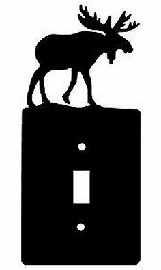 Rustic Moose Smooth Edged Switch/Wall Plate 12 Styles