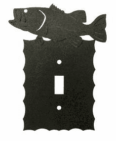 Rustic Scalloped Bass Switch/Wall Plate in 12 Styles