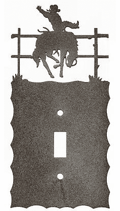 Rustic Scalloped Bucking Bronco Switch/Wall plate - 12 types