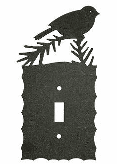 Rustic Scalloped Chickadee Switch/Wall Plate in 12 Styles