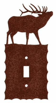 Rustic Scalloped Elk Switch/Wall plate in 12 Styles