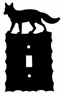 Rustic Scalloped Fox Switch/Wall Plate in 12 Styles