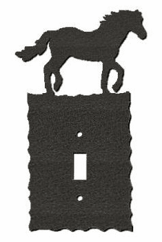 Rustic Scalloped Horse Switch/Wall Plate in 12 Styles