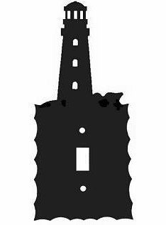 Rustic Scalloped Lighthouse Switch/Wall Plate in 12 Styles