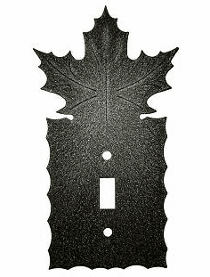 Rustic Scalloped Maple Leaf Switch/Wall Plate in 12 Styles