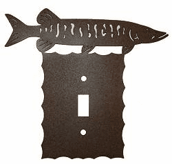 Rustic Scalloped Muskie Switch/Wall Plate in 12 Styles