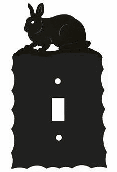 Rustic Scalloped Rabbit Switch/Wall Plate in 12 Styles