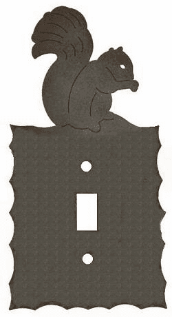 Rustic Scalloped Squirrel Switch/Wall Plate in 12 Styles