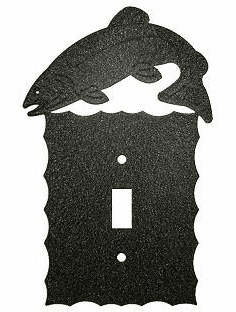 Rustic Scalloped Trout Switch/Wall Plate in 12 Styles