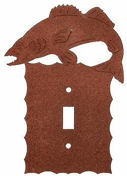Rustic Scalloped Walleye Switch/Wall Plate in 12 Styles