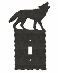 Rustic Scalloped Wolf Switch/Wall Plate in 12 Styles