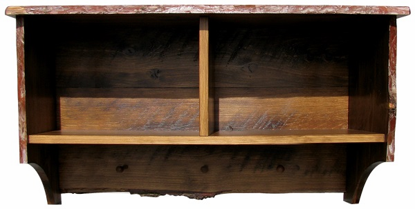 Rustic Shelf with Storage Cubbies, 36 inch wide