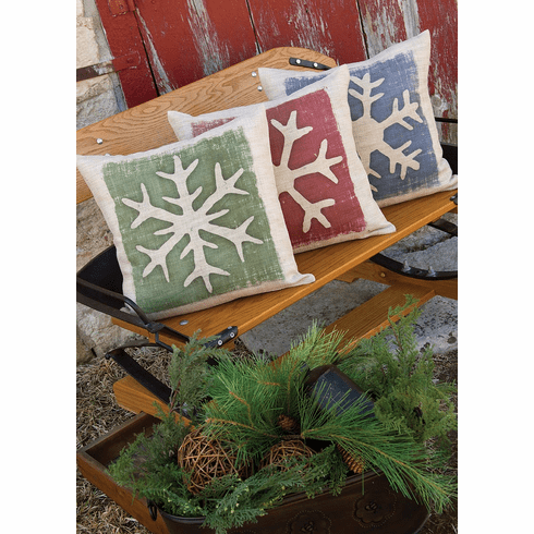 Rustic Snowflake Pillow