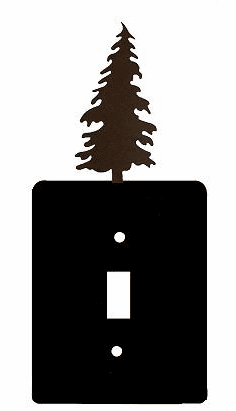 Rustic Tree Smooth Edged Switch/Wall Plate 12 Styles
