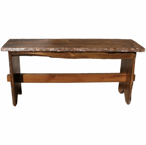 Rustic Trestle Bench, 36 inch wide