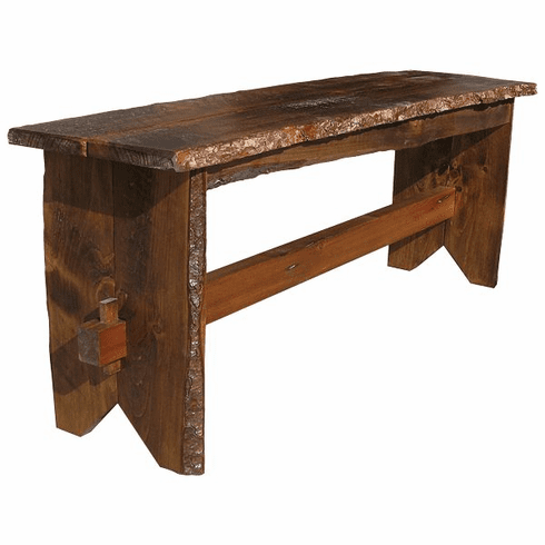 Rustic Trestle Bench, 48 inch wide